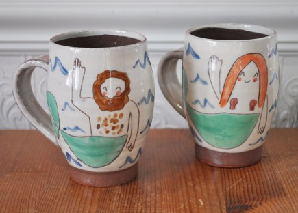 Mugs by Bread and Butter Pottery; image copyright Erin Torrance