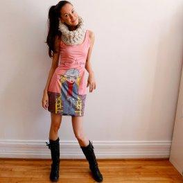 Frida Kahlo fit and flare dress by Cara Carmina; image copyright Cara Carmina