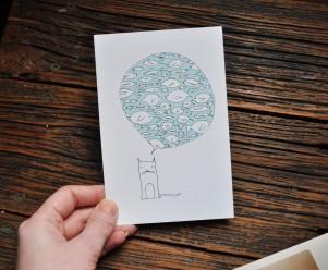 Illustrated postcard by Cara Carmina; image copyright Erin Torrance