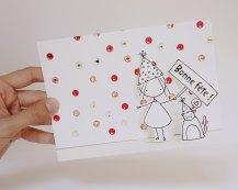 Paper cut diorama card by Cara Carmina; image copyright Cara Carmina