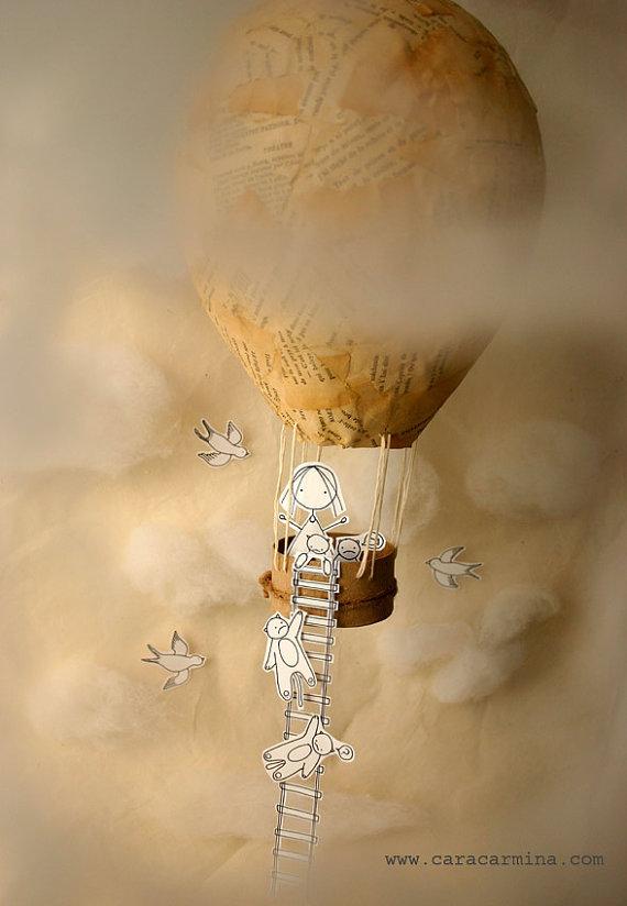 Paper cut diorama art print by Cara Carmina; image copyright Cara Carmina