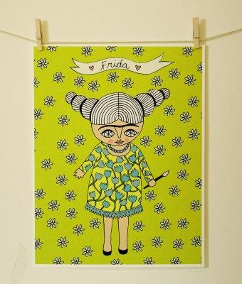 Frida Kahlo print by Cara Carmina; image copyright Cara Carmina