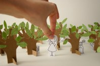 Paper cut diorama by Cara Carmina; image copyright Cara Carmina