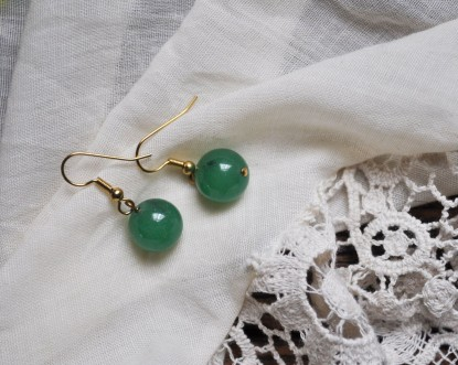 Turquoise earrings by Compliment; image copyright Erin Torrance