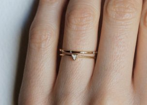 Wedding ring set by MinimalVS; image copyright MinimalVS