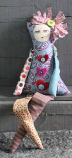 Hollyhocke by Monika McEwen Art Dolls; image copyright Monika McEwen Art Dolls