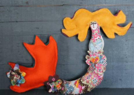 Sea Maiden by Monika McEwen Art Dolls; image copyright Monika McEwen Art Dolls